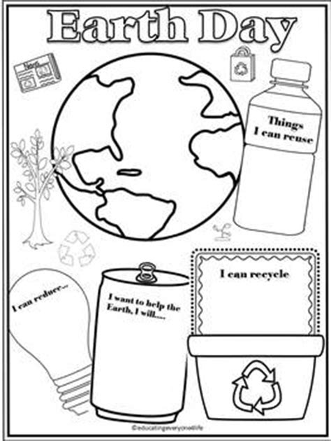 earth day coloring pages preschool free earth day activity for kids this fun writing and