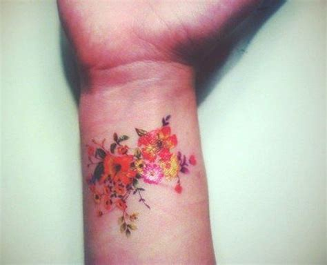 coloured wrist tattoos 25 attractive colorful flower tattoos and design ideas