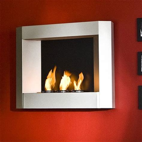sleek wall mounted gel fuel fireplace southern