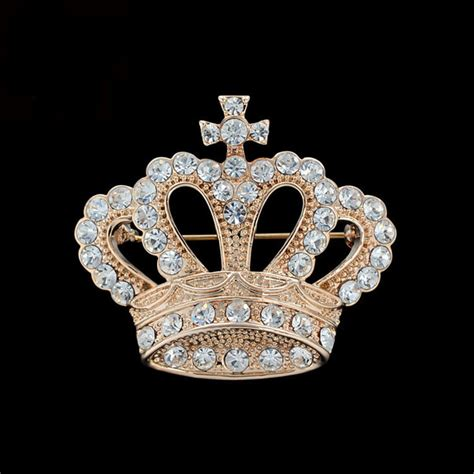 Crown Brooch vintage crown brooches for suit collar pin clip
