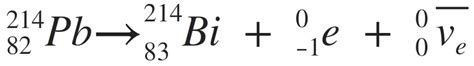 Neon Periodic Table Example Lead 214 Decays To Bismuth 214 The Equation For