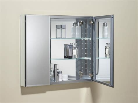 Bathroom: Stunning Double Doors Medicine Cabinet With Glass Shelf And Mirror For High End