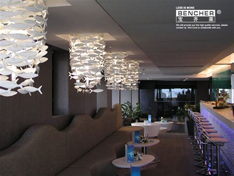 Restaurant Chandelier Ceramic Fish L Chandelier Creative Lighting Restaurant Simple Hotel Bar Living Room Home