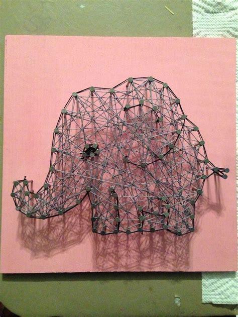 String Elephant - elephant string things i ve done