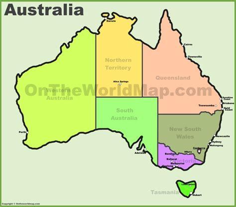 australia on a world map australia maps map of australia
