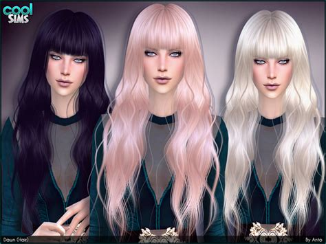 sims 4 hair dawn hair by anto at tsr 187 sims 4 updates