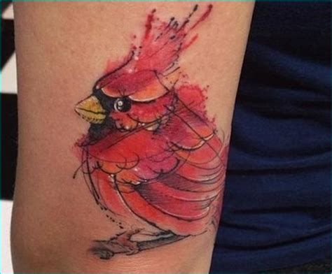 43 wonderful cardinal tattoos