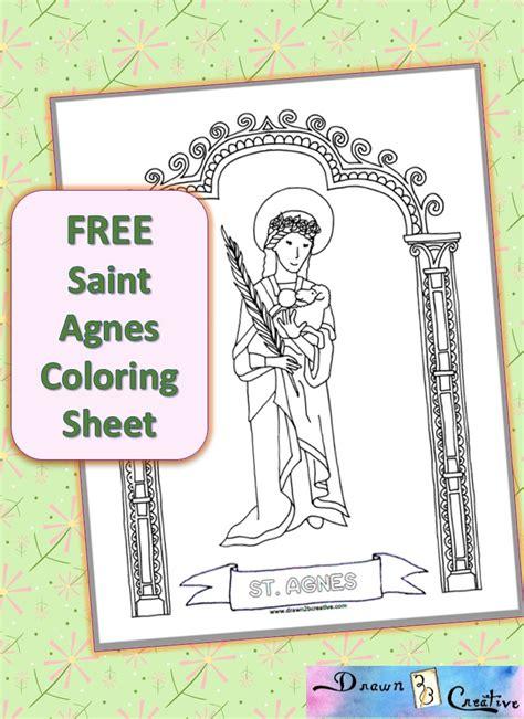 saint agnes coloring page drawn2bcreative