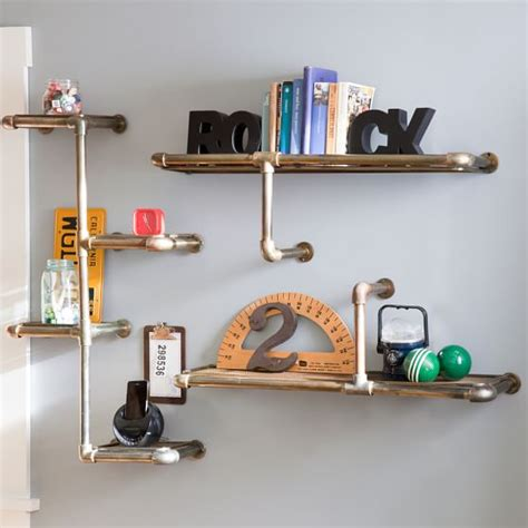 iron pipe shelving pbteen