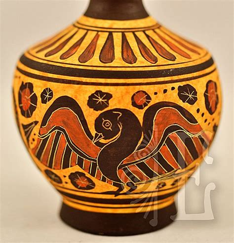 Oinochoe Vase by Vintage Korinthian Oinochoe Reproduction Vase From