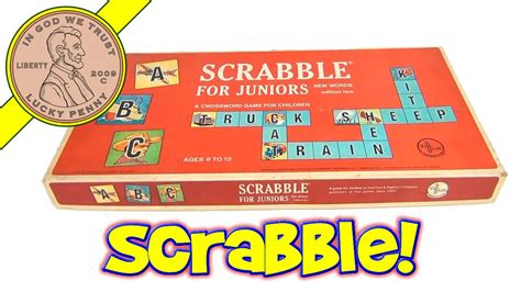 selchow and righter scrabble 1964 scrabble junior 2nd edition vintage board