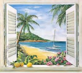 wall murals tropical tropical window wall mural themuralstore com