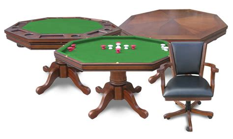harvil 3 in 1 poker with 4 chairs 3n1oak