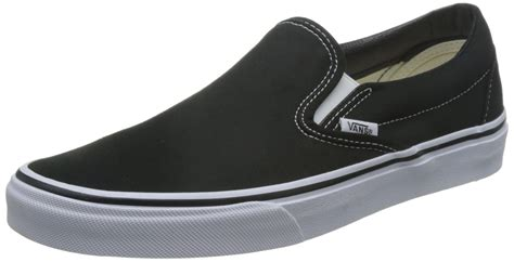 Vans Slipon vans classic slip on skate shoes black white 7 uk new ebay