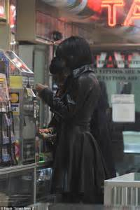 village tattoo nyc new york ny rihanna shows off new bob haircut in sexy leather outfit