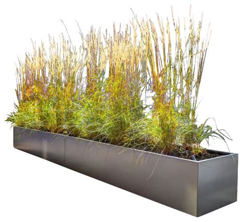 Modern Outdoor Planters by Gallery Metal Rectangular Planter Modern Outdoor