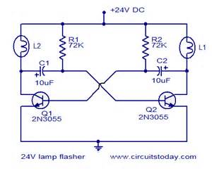 24v flasher circuit electronic circuits and diagram