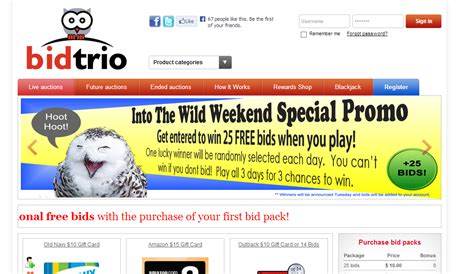 Gift Card Auction Sites - interview with new penny auction site bidtrio com penny auction watch 174