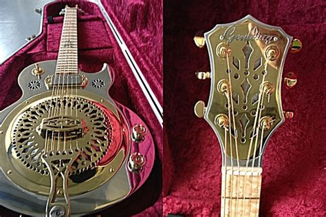 Handmade Resonator Guitars - goulding resonator guitar handmade in aluminium badass