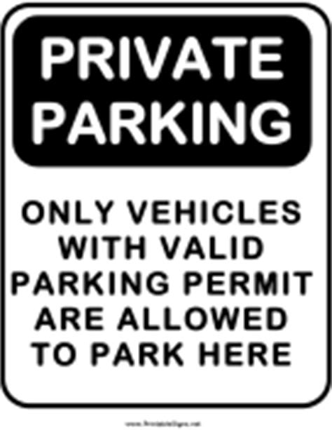 Parking Signs Parking Warning Notice Template