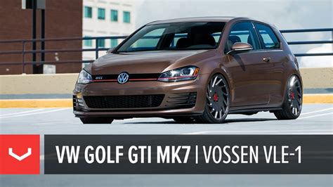 volkswagen brown vw mk7 golf gti toffee brown vossen vle 1 4k youtube