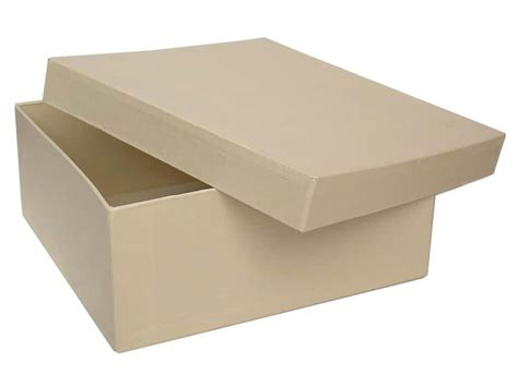 Craft Paper Mache Boxes - paper mache square box 7 1 2 in vanilla by craft pedlars
