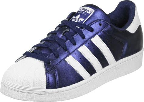 adidas superstar schuhe blau weiss
