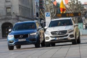 Volvo Xc90 Vs Mercedes Ml Comparison Test Mercedes Gle 500 E Vs Volvo Xc90 T8 Awd