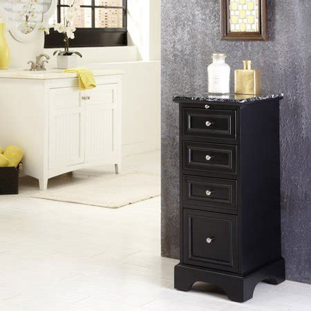 black bathroom storage cabinet home styles bedford bath cabinet black walmart