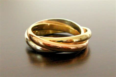 mixed metal wedding band cartier inspired onewed