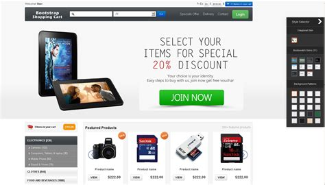 bootstrap shopping template bootstrap shopping cart best bootstrap based shopping