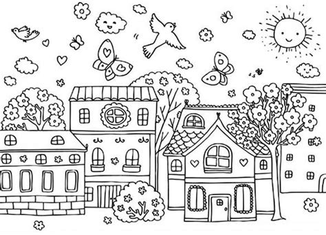 coloring pages christmas village christmas village coloring pages village coloring pages