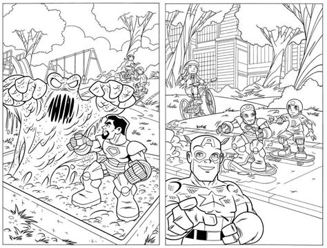 marvel giant coloring pages marvel superhero coloring pages marvel super hero squad