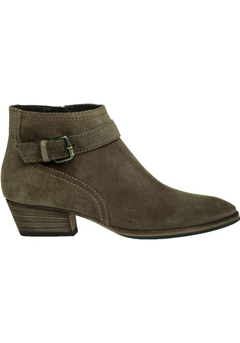 aquatalia suede ankle boots in brown lyst