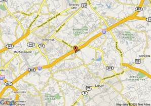 where is norcross on the map map of suiteone of gwinnett norcross