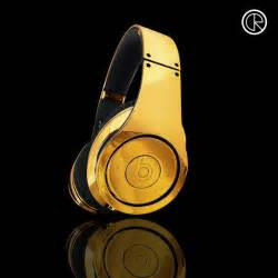 Beats By Dre 24ct Gold Plated Dr Dre Beats Studio Headphones By