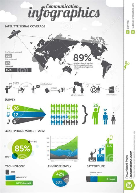 The Truthful Data Charts And Maps For Communication Ebook communication infographics stock photos image 27568483