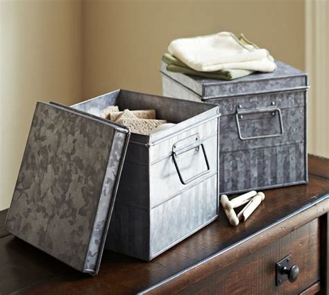 galvanized metal bin traditional storage bins