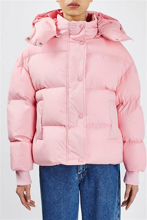 light pink puffer coat the puffball puffer jacket by boutique topshop