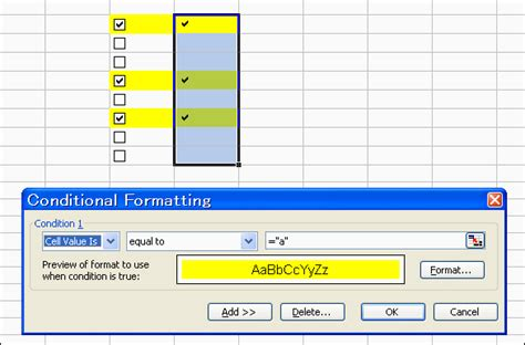 format excel cell as checkbox andrew s excel tips checkboxes