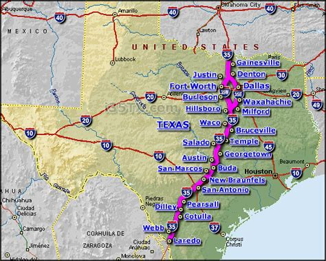 interstate map of texas interstate 35 images