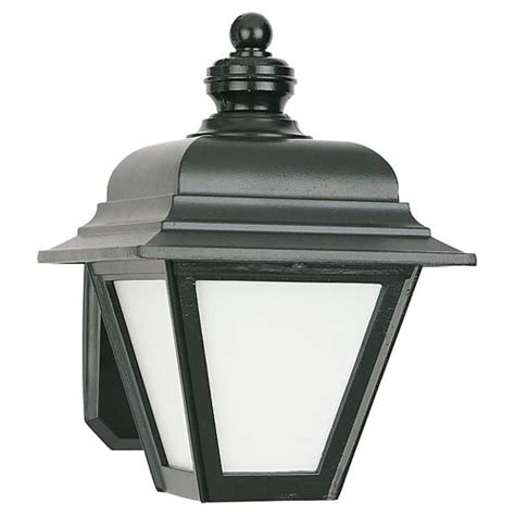 Sea Gull Lighting Bancroft Black Powder Coat Energy Star Outdoor Lighting With Photocell