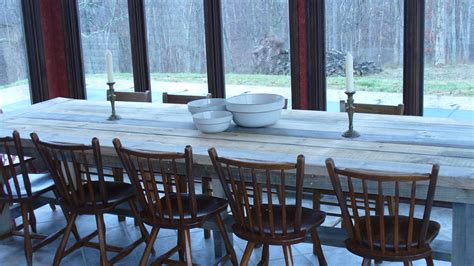 white big farm table diy projects