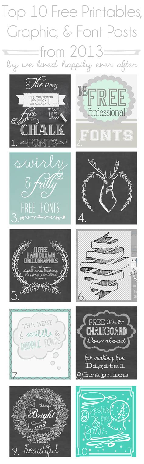 free love printables we lived happily ever afterwe lived top 10 free printables graphic font posts from 2013