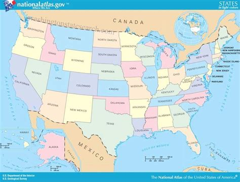 united states map of america united states of america map showing all states