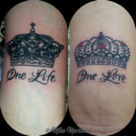 his and her crown tattoos the his and pictures to pin on tattooskid