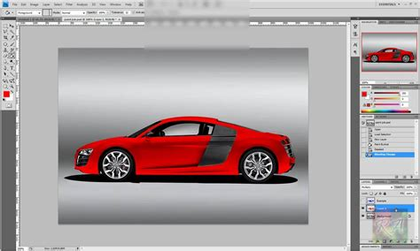 Audi Job by Photoshop Tutorial Audi R8 Paint Job Youtube