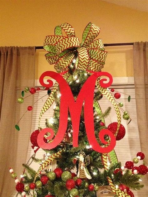 christmas tree letter and bow holiday pinterest