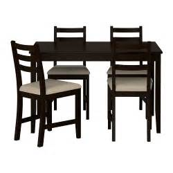 Black Dining Table And 4 Chairs Lerhamn Table And 4 Chairs Ikea