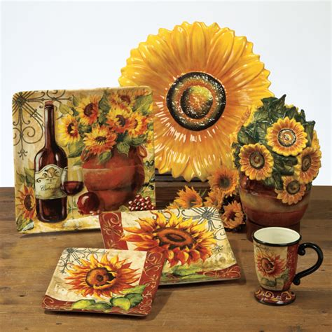 Sunflower Kitchen Canisters sunflower kitchen accessories afreakatheart